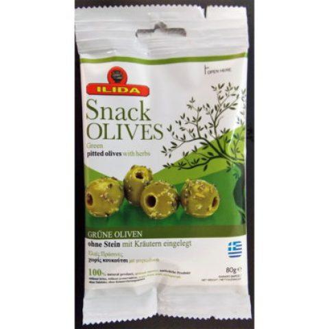 Ελιές πράσινες χωρίς κουκούτσι με μυρωδικά